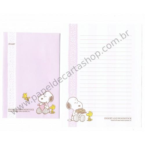 Conjunto de Papel de Carta Snoopy And Woodstock LC CRS - Peanuts
