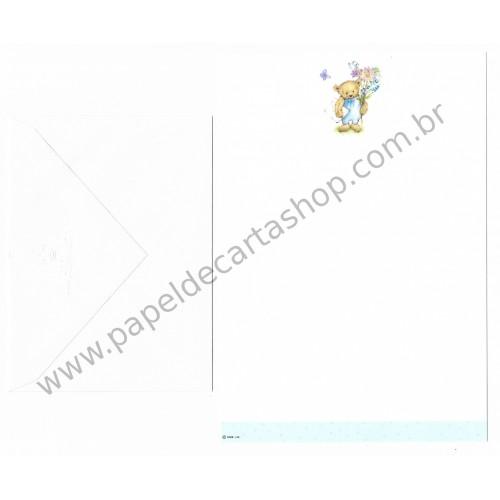 Conjunto de Papel de Carta Antigo Importado Mary Hamilton BEAR 03 - Hallmark