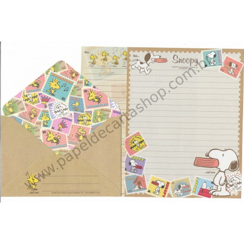 Conjunto de Papel de Carta Snoopy Celebrating 60 Years - Peanuts