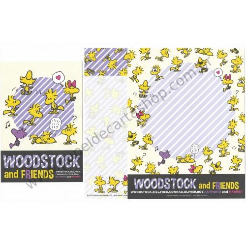 Conjunto de Papel de Carta Snoopy and Woodstock (CAZ) - Peanuts