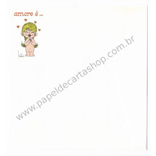 Conjunto de Papel de Carta Antigo Importado Amore é...08