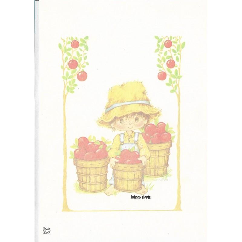 Papel de Carta Antigo Coleção Palacio's Line Johnny Apple