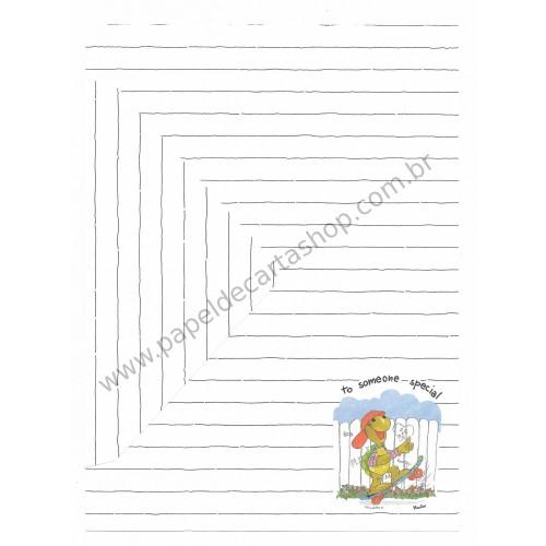 Conjunto de Papel de Carta Antigo Coleção Kartos - Tartaruga