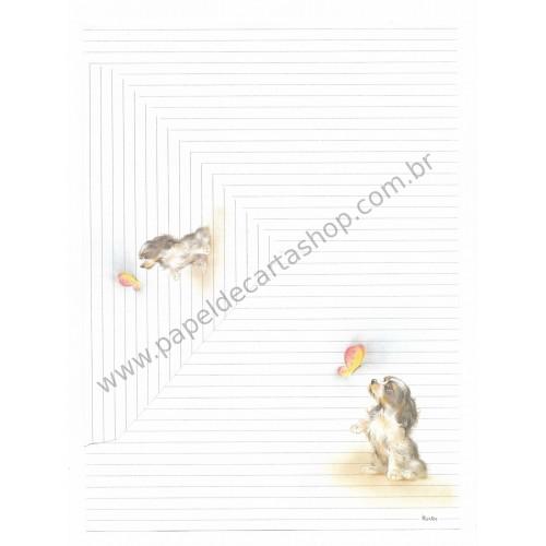 Conjunto de Papel de Carta Antigo Coleção Kartos - Cachorro 2