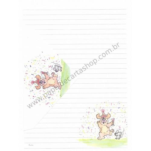 Conjunto de Papel de Carta Antigo Coleção Kartos - Cachorro 3
