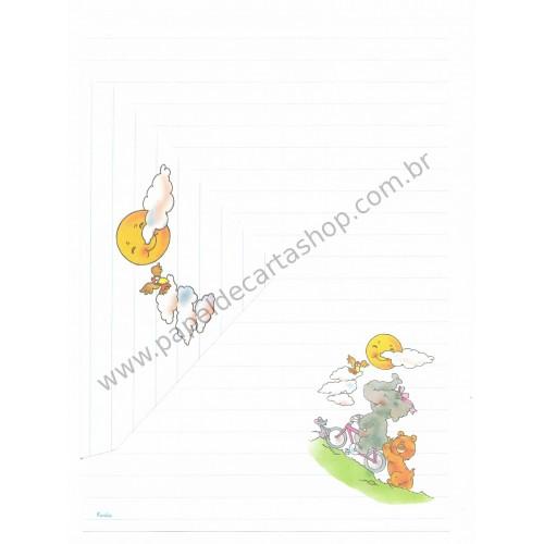 Conjunto de Papel de Carta Antigo Coleção Kartos - Elefante 3