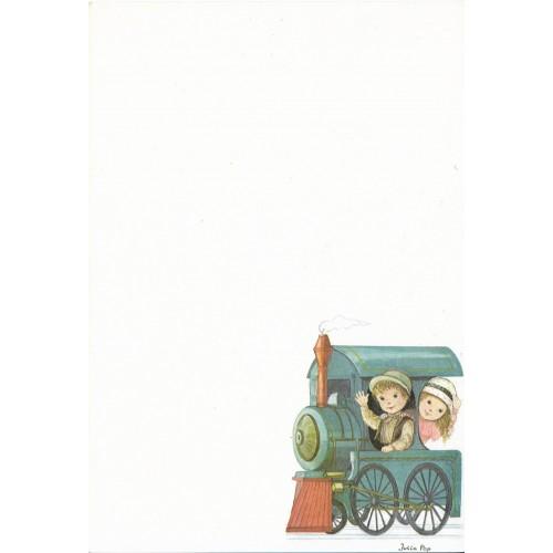 Papel de Carta Antigo SPACK Julie Pop - Trem