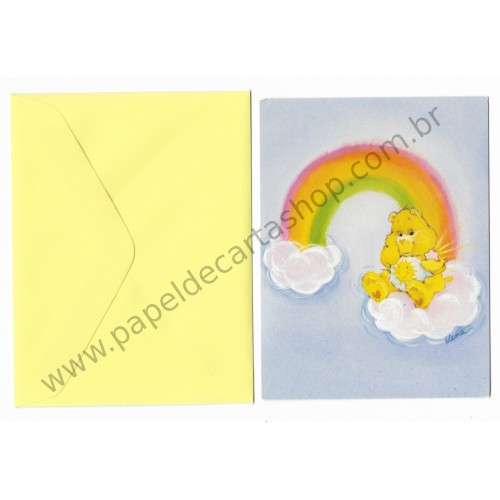 Cartão ANTIGO COM ENVELOPE Ursinhos Carinhosos P3