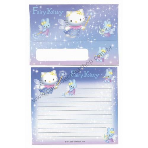 Ano 2000. Conjunto de Papel de Carta Fairy Kitty Welcome to 21st Century Sanrio