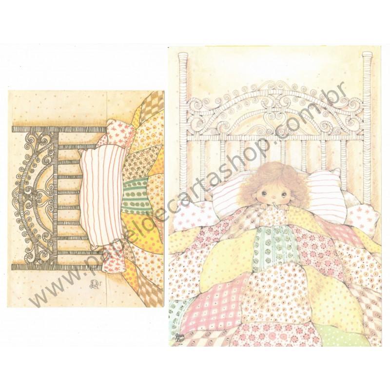 Conjunto de Papel de Carta Antigo Coleção Palacio's Line PC 306