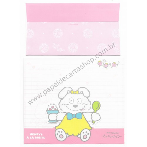 Ano 1988. Conjunto de Papel de Carta Antigo (Vintage) CRS Strawberry - Tombow Sugar