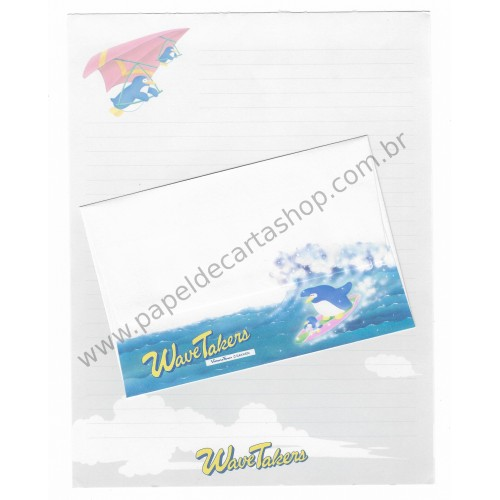 Conjunto de Papel de Carta Antigo (Vintage) Wave Takers - Victoria Fancy GAKKEN