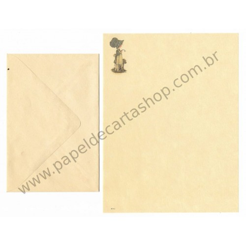 Conjunto de Papel de Carta ANTIGO Holly Hobbie - M57