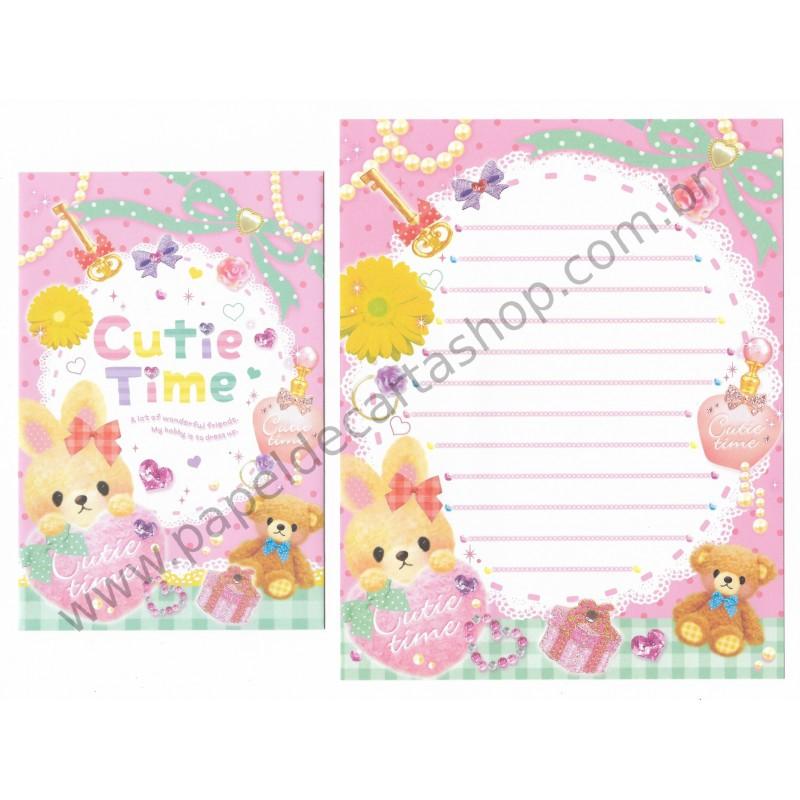 Conjunto de Papel de Carta CUTIE TIME (A) - Q-Lia Japan
