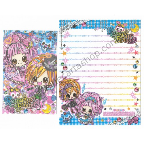 Conjunto de Papel de Carta Romantic Friends - Kamio Japan