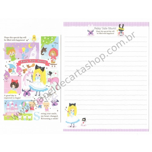 Conjunto de Papel de Carta Fairy Tale World (C) - Kamio Japan