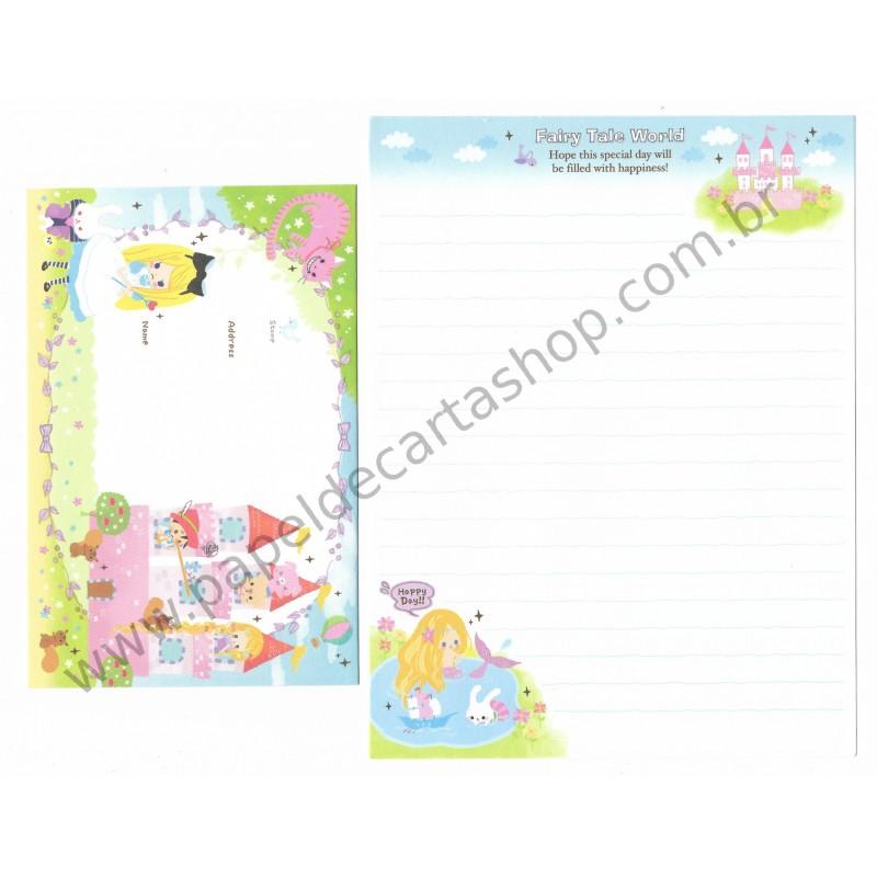 Conjunto de Papel de Carta Fairy Tale World (D) - Kamio Japan