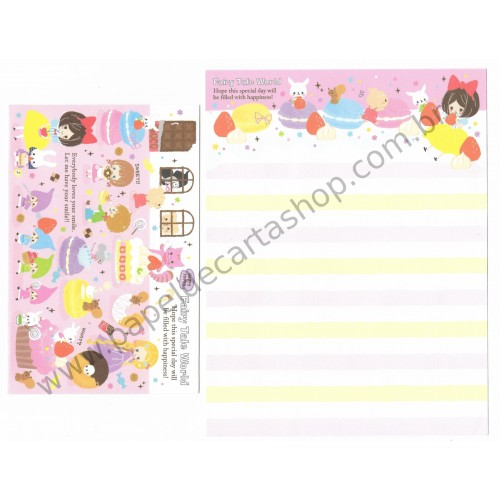 Conjunto de Papel de Carta Fairy Tale World (A) - Kamio Japan