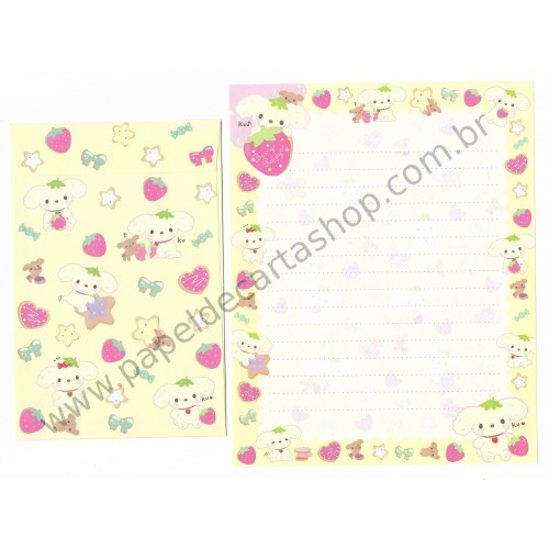 Kit 4 Conjuntos de Papel de Carta Berry Puppy II - SAN-X