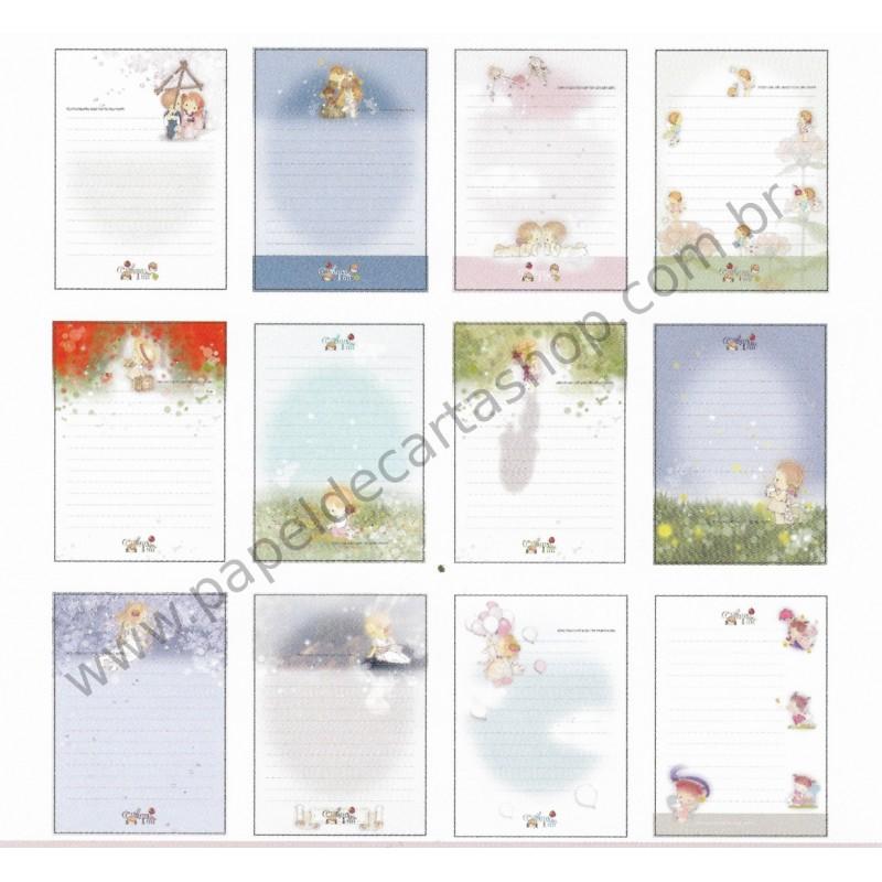 Lote de Papel de Carta Importado AMY & TIM 02
