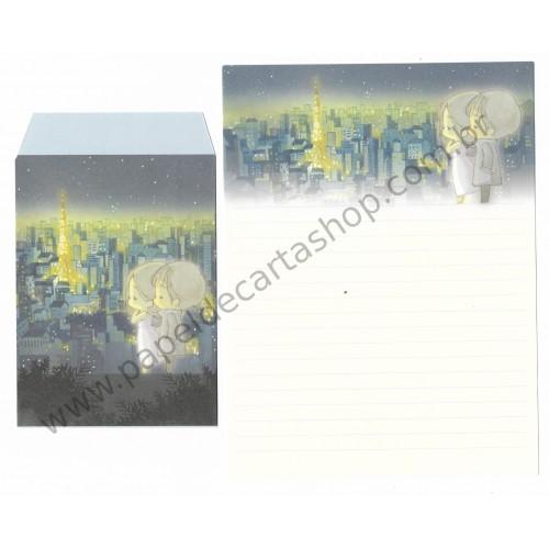Conjunto de Papel de Carta Importado AMY & TIM 03