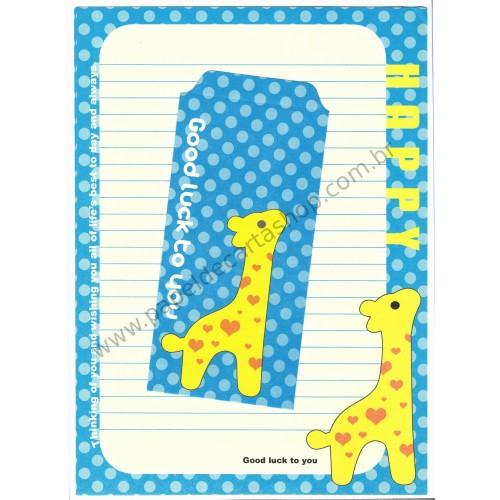Conjunto de Papel de Carta Importado Best Wishes Giraffe CAZ