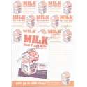 Conjunto de Papel de Carta MILK - Art-Box Korea