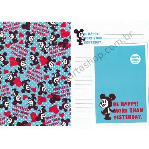 Conjunto de Papel de Carta Happy Virus CAZ Ver 02 - Art-Box Korea