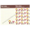 Papel de Carta AVULSO Toy's Story - Art-Box Korea