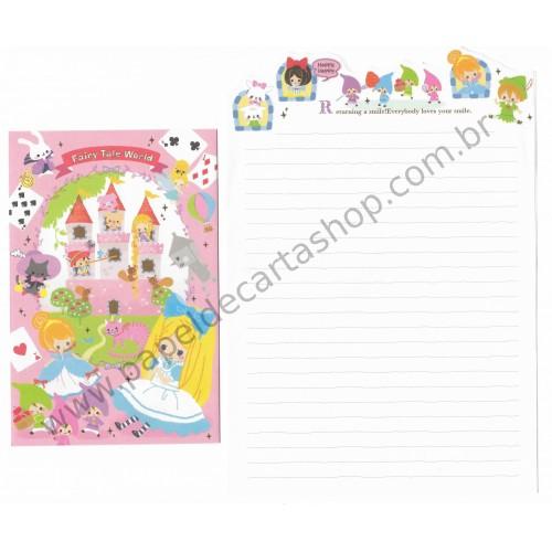 Kit 3 Conjuntos de Papel de Carta Wonderland Letter - Kamio Japan