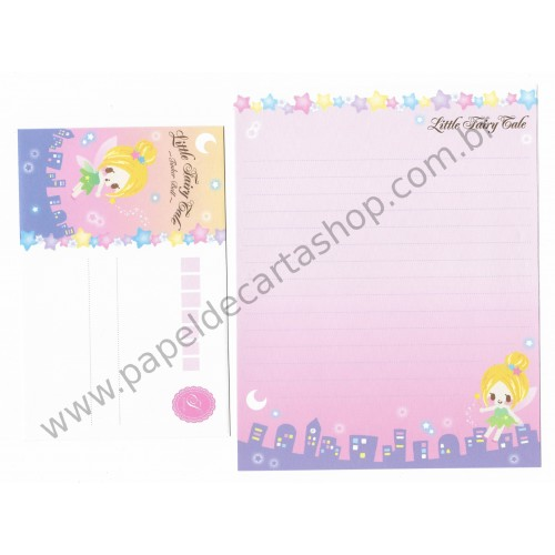 Conjunto de Papel de Carta Little Fairy Tale Tinker Bell - Q-Lia Japan