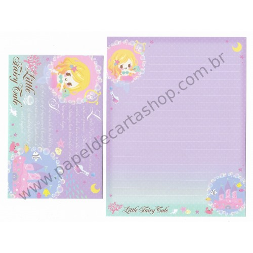 Conjunto de Papel de Carta Little Fairy Tale Little Mermaid - Q-Lia Japan