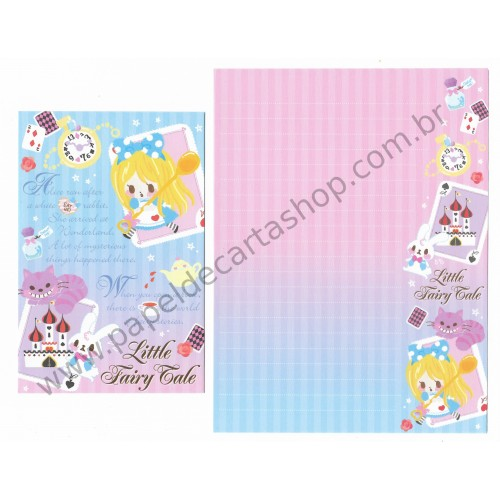 Conjunto de Papel de Carta Little Fairy Tale Alice - Q-Lia Japan