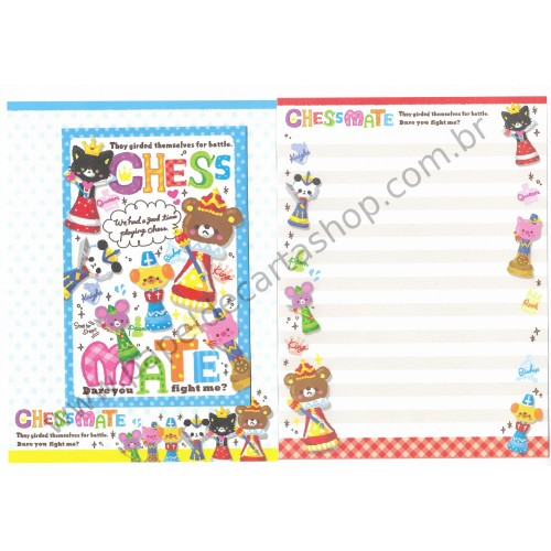 Conjunto de Papel de Carta Chess Mate - DAISO Japan