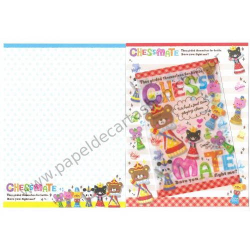 Conjunto de Papel de Carta Chess Mate CVM - DAISO Japan