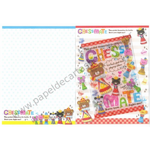 Conjunto de Papel de Carta Chess Mate CVM - DAISO Japan