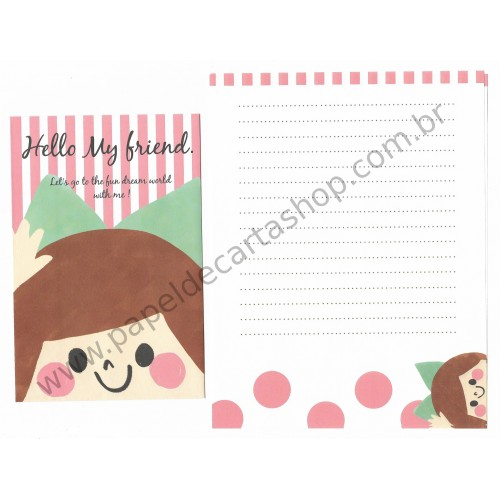 Conjunto de Papel de Carta Importado Hello My Friend - Kyowa