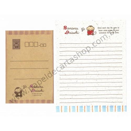 Conjunto de Papel de Carta Importado BANANA Daisuki - Japan