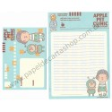 Conjunto de Papel de Carta Importado Apple Pet Clinic - Japan