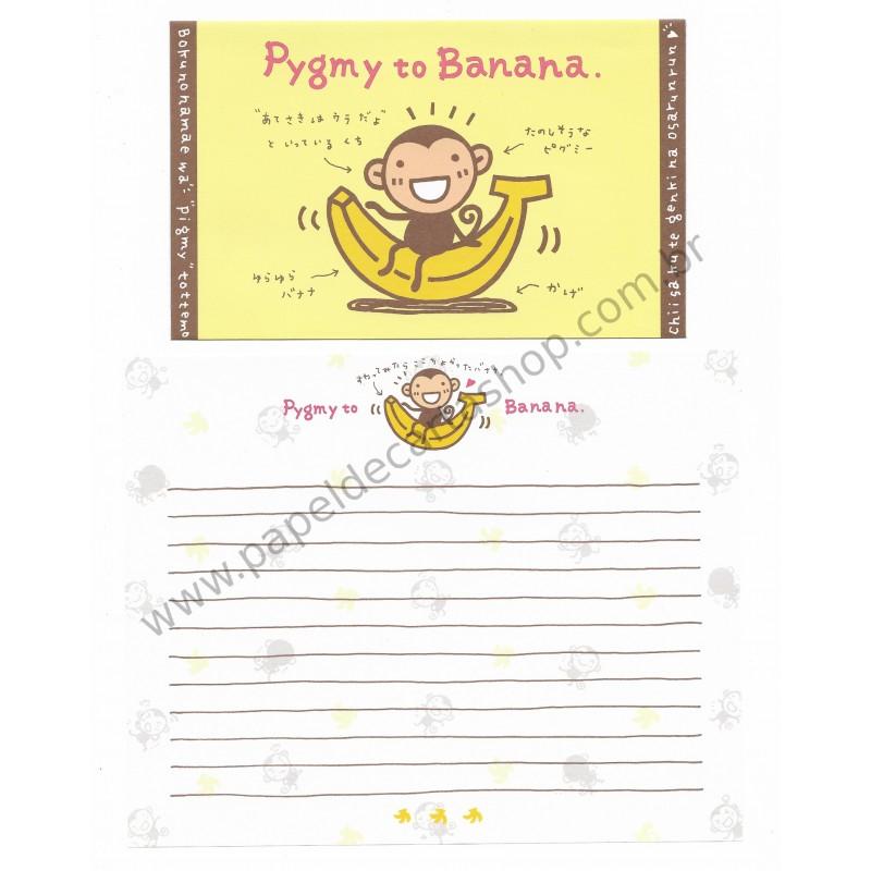 Conjunto de Papel de Carta Importado Pygmy to Banana - Japan