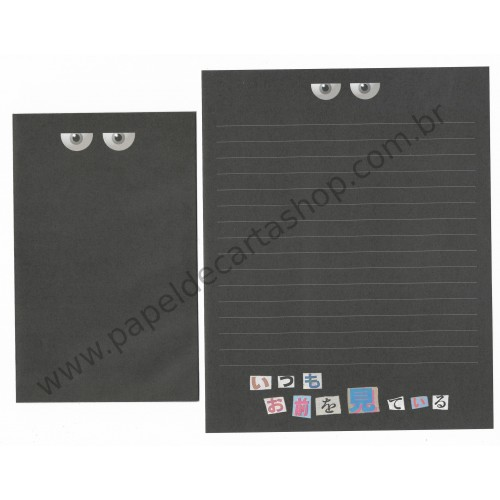 Conjunto de Papel de Carta Importado Black - Japan