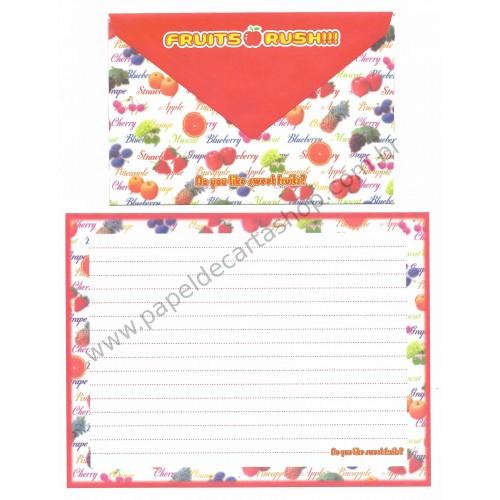 Conjunto de Papel de Carta Importado Sweet Fruit - San-X