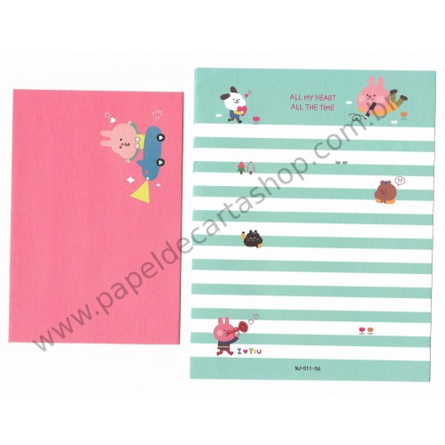 Conjunto de Papel de Carta Importado Ninge All My Heart - China