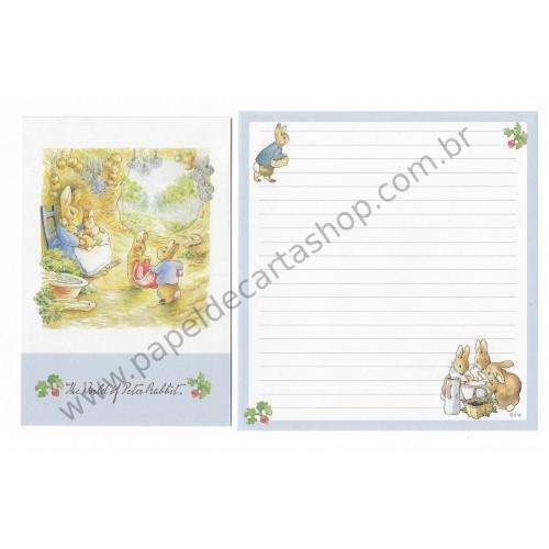 Conjunto de Papel de Carta Importado Peter Rabbit 01