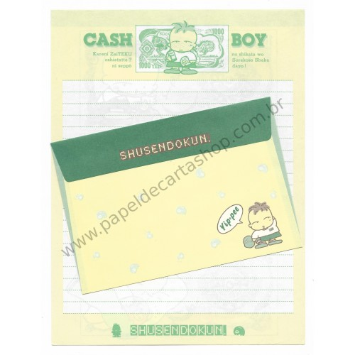Conjunto de Papel de Carta Antigo (Vintage) Cash Boy - San-X Japan