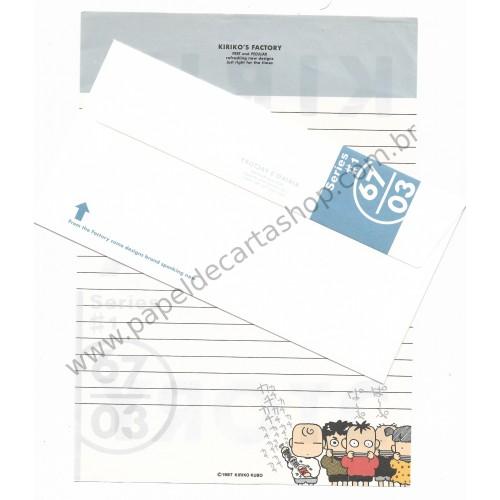 Ano 1987. Conjunto de Papel de Carta Antigo (Vintage) Kiriko's Factory - Japan