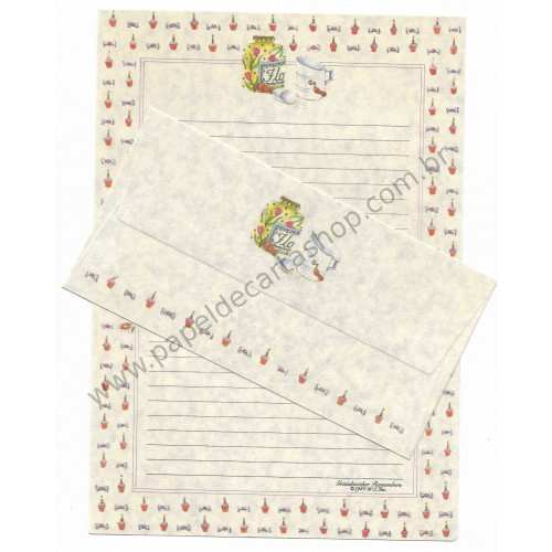Ano 1985. Conjunto de Papel de Carta Antigo (Vintage) Grandmother Remembers