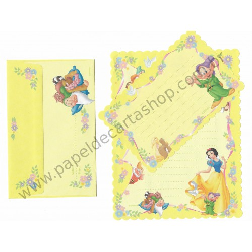 Conjunto de Papel de Carta VINTAGE DISNEY - Snow White 3