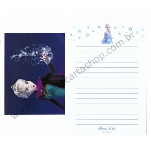 Conjunto de Papel de Carta Disney FROZEN - Queen Elsa Delfino