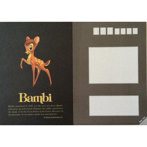 Postal Antigo Vintage Disney Bambi (BL) - Sun Star